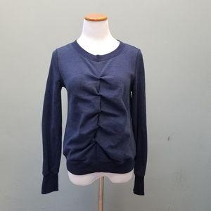 Adidas Originals Ruched Crewneck Sweatshirt Blue